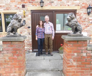 Liz and Graeme welcome to Liongate House.